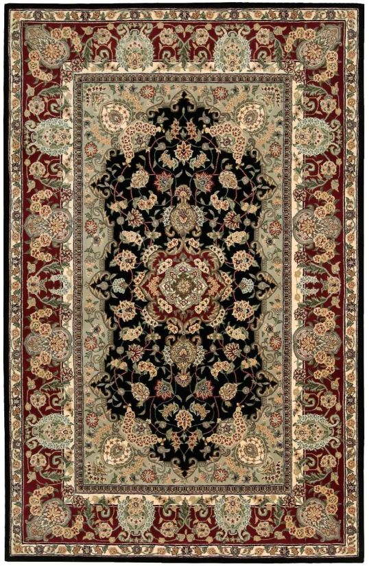"""Nourison 2000 Traditional, Black 5'6"""" x 8'6"""" Collection"""