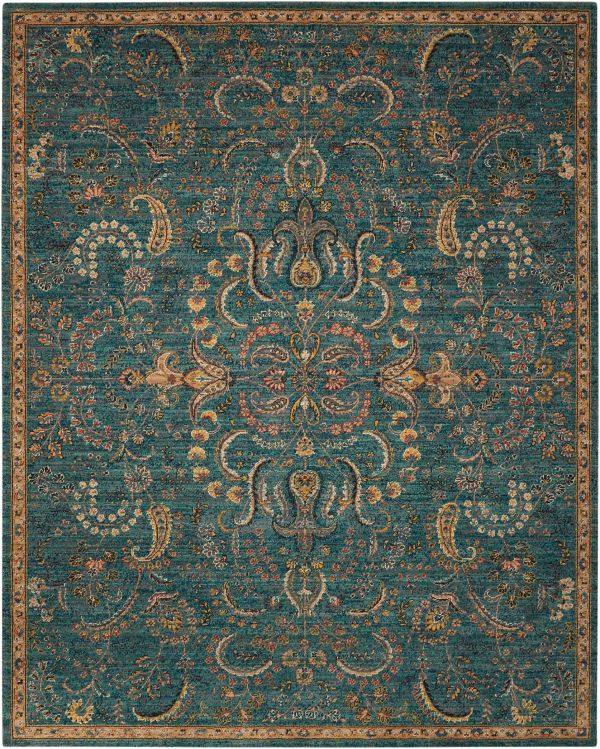 Nourison 2020 Teal Collection
