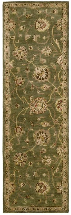 """Nourison Jaipur Traditional, Green 2'4"""" x 8'0"""" Collection"""
