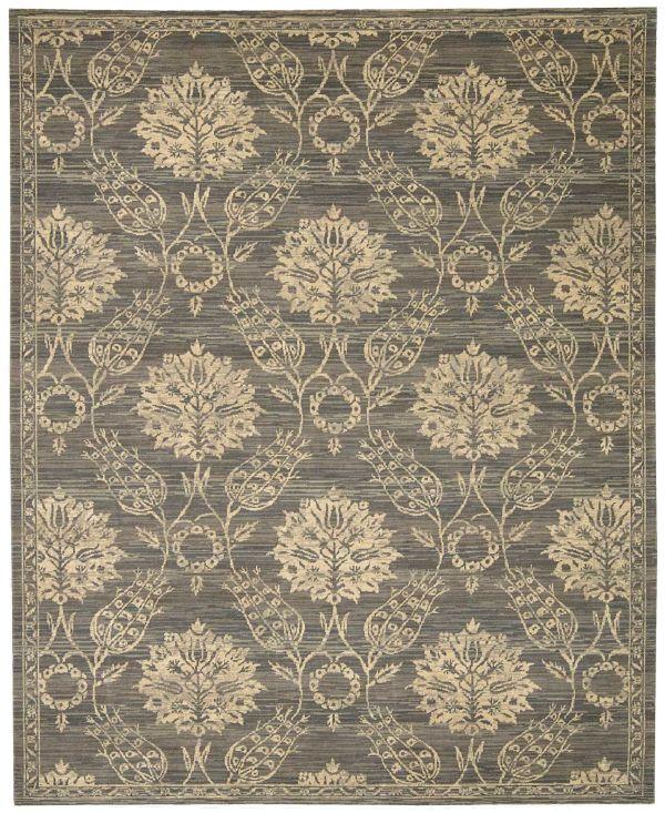 Nourison Silk Elements Graphite Collection