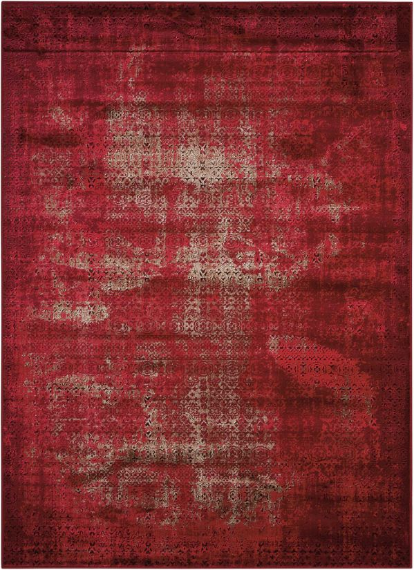 Nourison Karma Red Collection