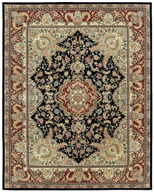 """Nourison 2000 Traditional, Black 9'9"""" x 13'9"""" Collection"""