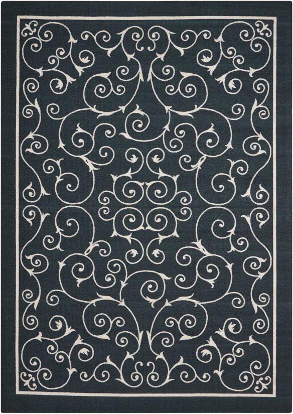 """Nourison Home & Garden Black 5'3"""" x 7'5"""" Collection"""