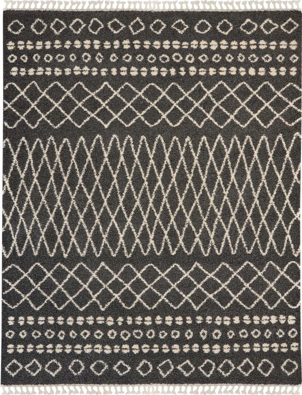 Nourison Moroccan Shag Charcoal Collection