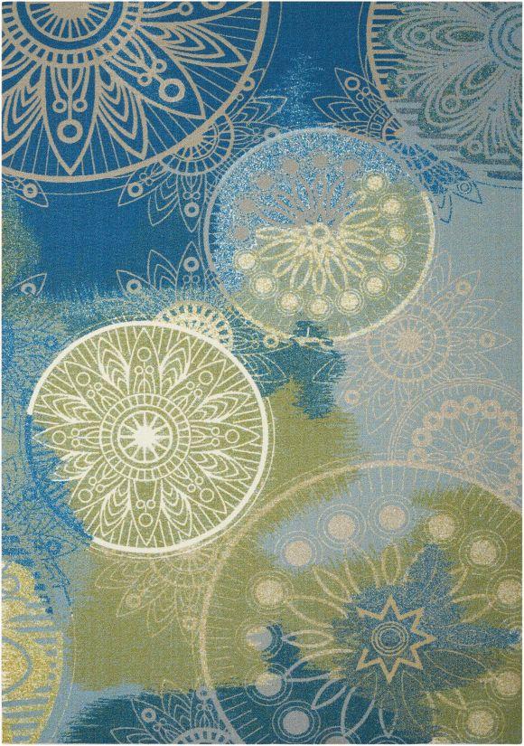 Nourison Home & Garden Blue Collection