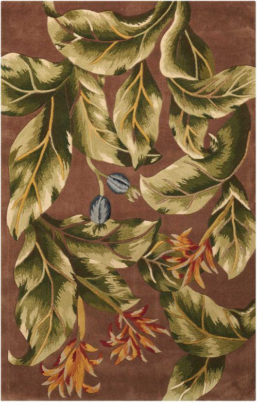 Nourison Tropics Khaki Collection