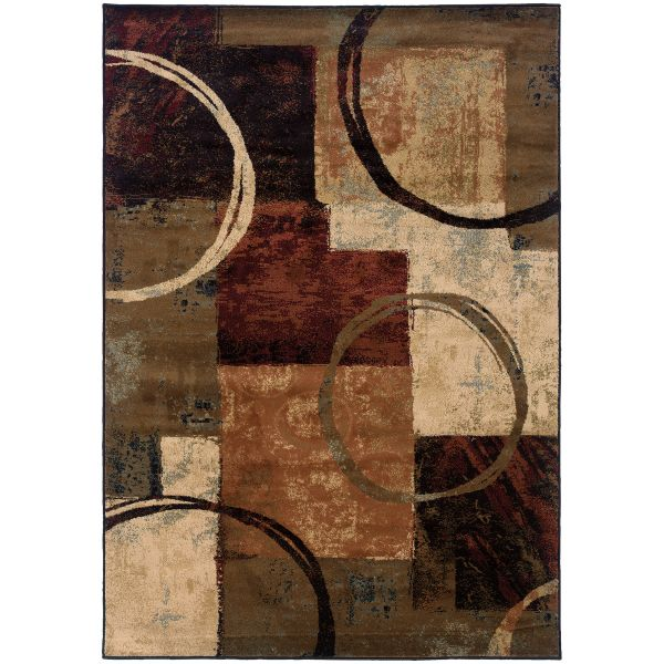 Oriental Weavers Hudson 2544b Brown Collection