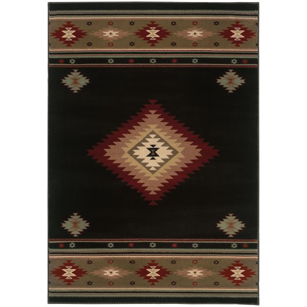 Oriental Weavers Hudson 87g Black Collection