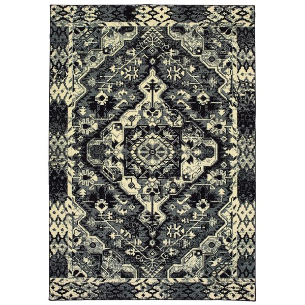Oriental Weavers Luna 5603k Black Collection