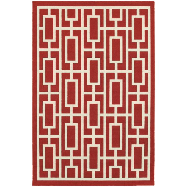 Oriental Weavers Meridian 9754r Red Collection