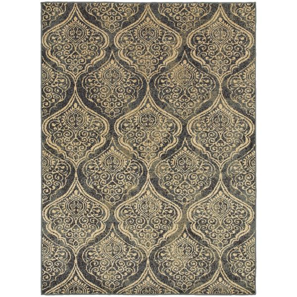 Oriental Weavers Stratton 4960c Blue Collection