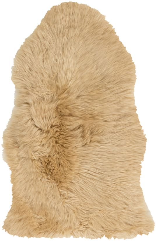 Surya Sheepskin Shs-9601 Wheat Collection