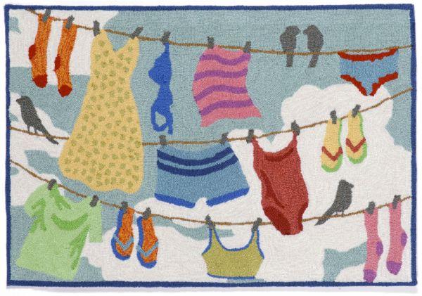 Liora Manne Frontporch Clothes Line Multi Collection