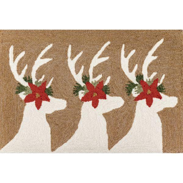 Liora Manne Frontporch Deer & Friends Natural Collection