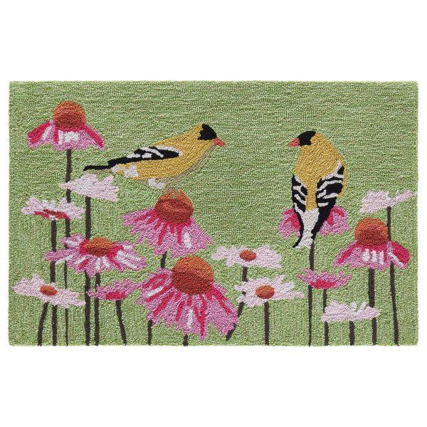 Liora Manne Frontporch Goldfinch Green Collection