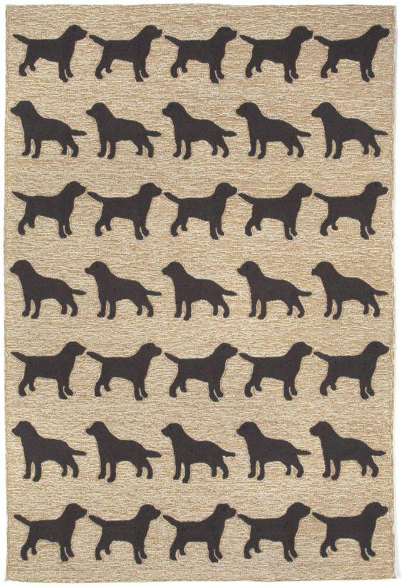 Liora Manne Frontporch Doggies Black Collection