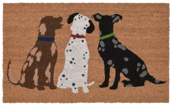 """Liora Manne Natura Three Dogs Natural 1'6"""" x 2'6"""" Collection"""