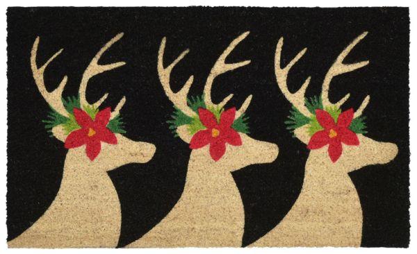 "Liora Manne Natura Deer Black 1'6"" x 2'6"" Collection"