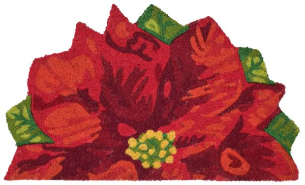 """Liora Manne Natura Poinsettia Red 1'6"""" x 2'6"""" Collection"""
