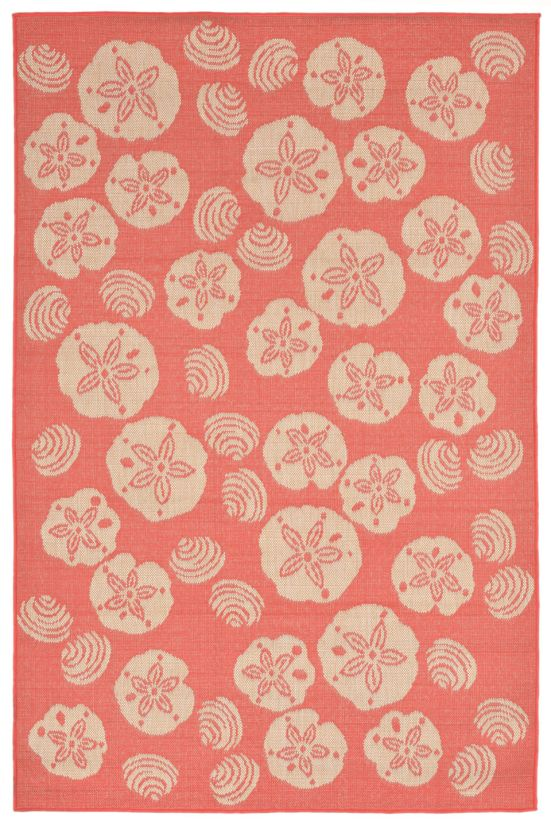 "Liora Manne Terrace Casual Orange 3'3"" x 4'11"" Collection"