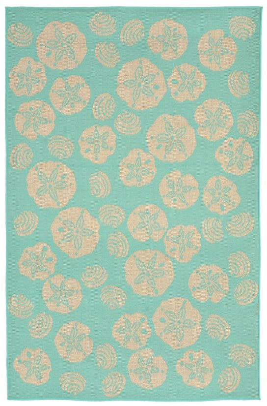 Liora Manne Terrace Shell Toss Blue Collection