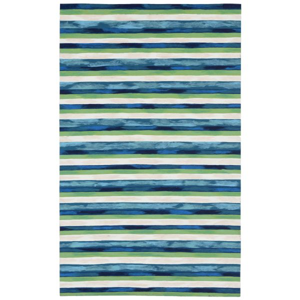 Liora Manne Visions II Painted Stripes Cool Collection