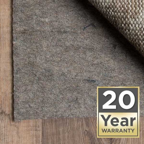 20 Year Warranty Area Rug Pad Pre-packaged Collection