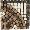Daltile Marble Collection Emperador Dark /Crema Marfil/ Rojo Alicante (Serpentine Accent Corner)