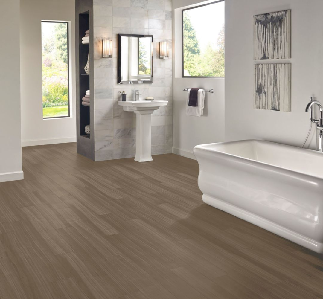 Armstrong Luxe Plank With Fastak Install Empire Walnut Flint Gray A6711761
