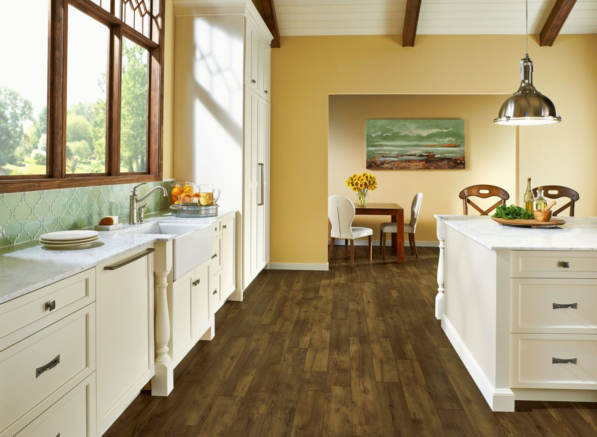 Armstrong Luxe Plank With Rigid Core Farmhouse Plank Rugged Brown A6415U71