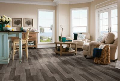 Armstrong Luxe Plank With Rigid Core Castletown Carbonized Gray A6455741