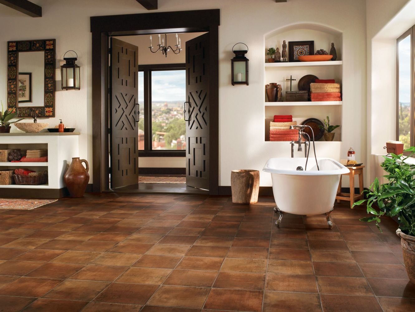 Armstrong Cushionstep Better Spanish Saltillo Redware B3082401