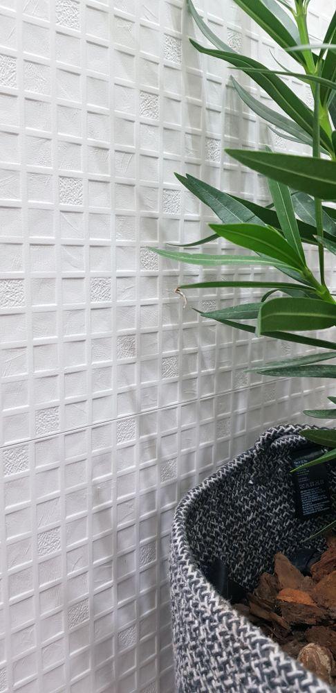 Emser Sparkle Ceramic Matte Square White W35SPARSQ1239