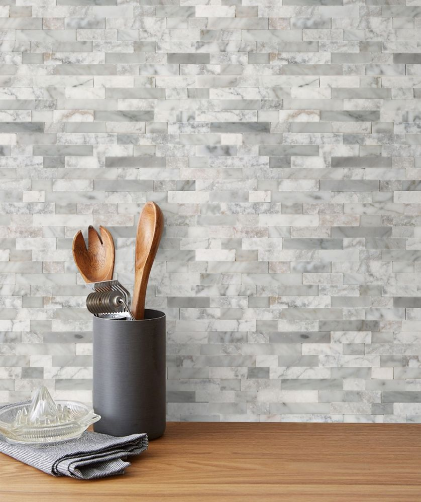 Emser Feature Limestone Splitface White P99FEATWH1218MO