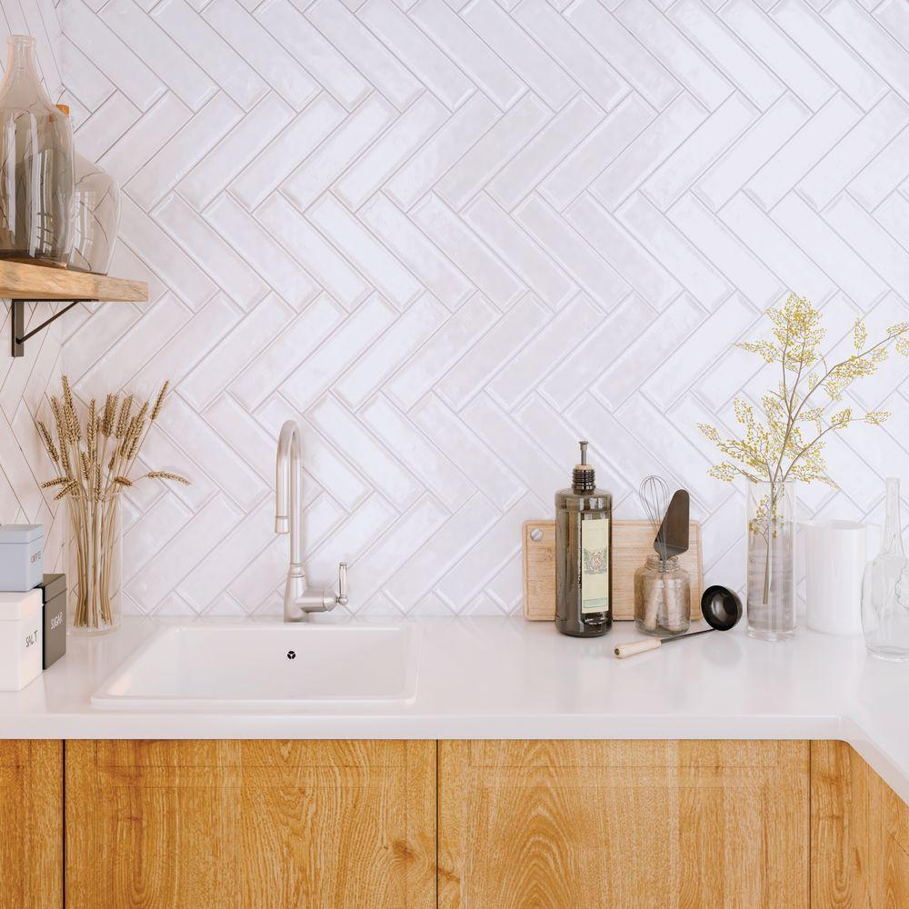 Emser Raku Ceramic Glossy White W32RAKUWH0312