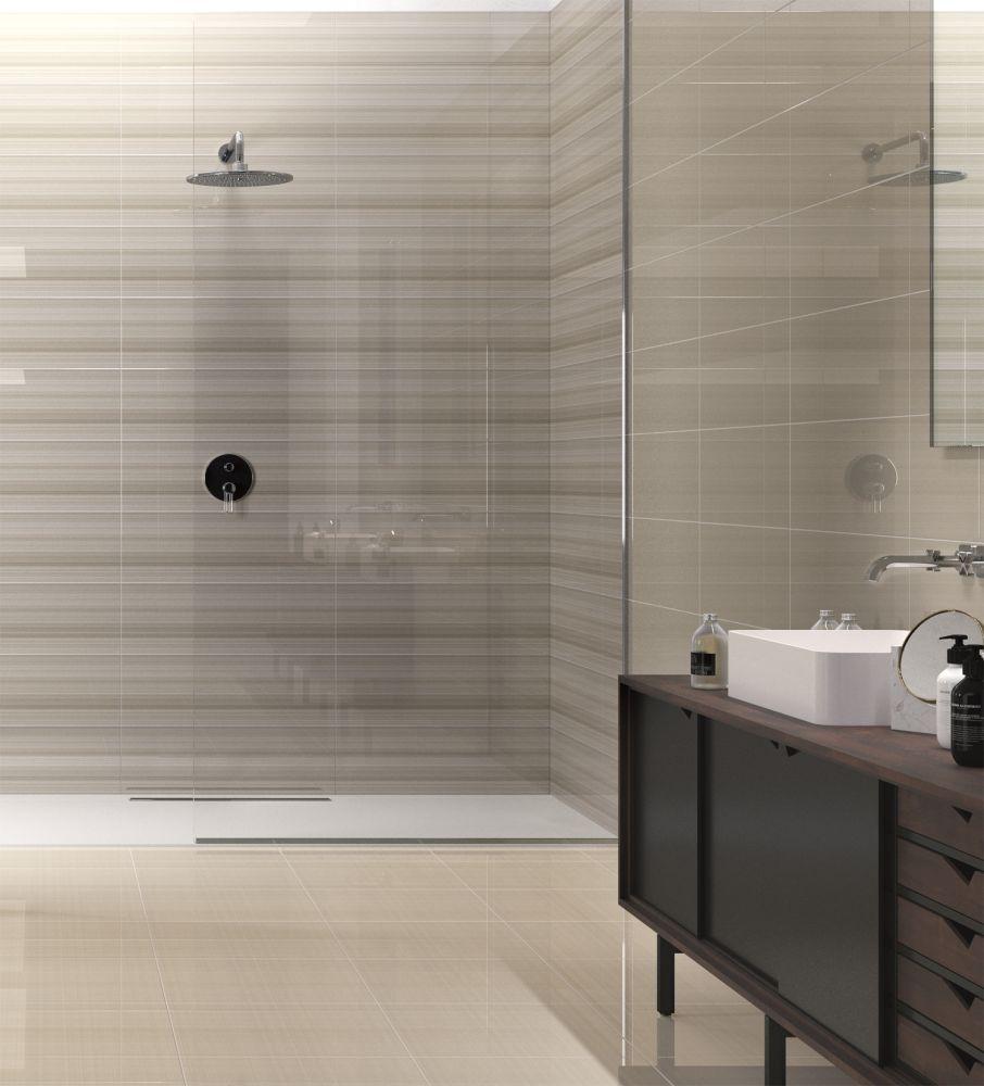 Emser Vertigo Ceramic Glossy White Linear F02VERTIW1030