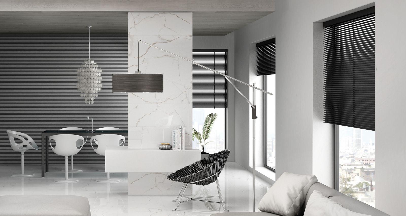 Emser Sculpture Ceramic Glossy White Flat F26SCULFLW1336