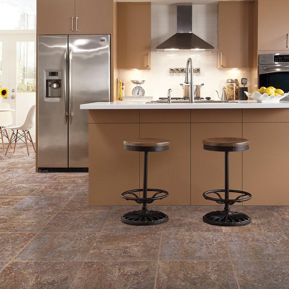 Mannington Adura® Luxury Vinyl Tile Flooring San Luca Coral AT372