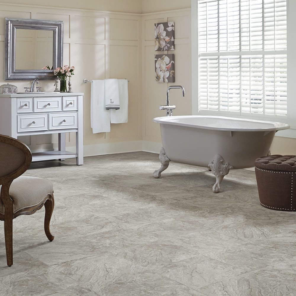 Mannington Adura® Luxury Vinyl Tile Flooring Century Fossil AT381
