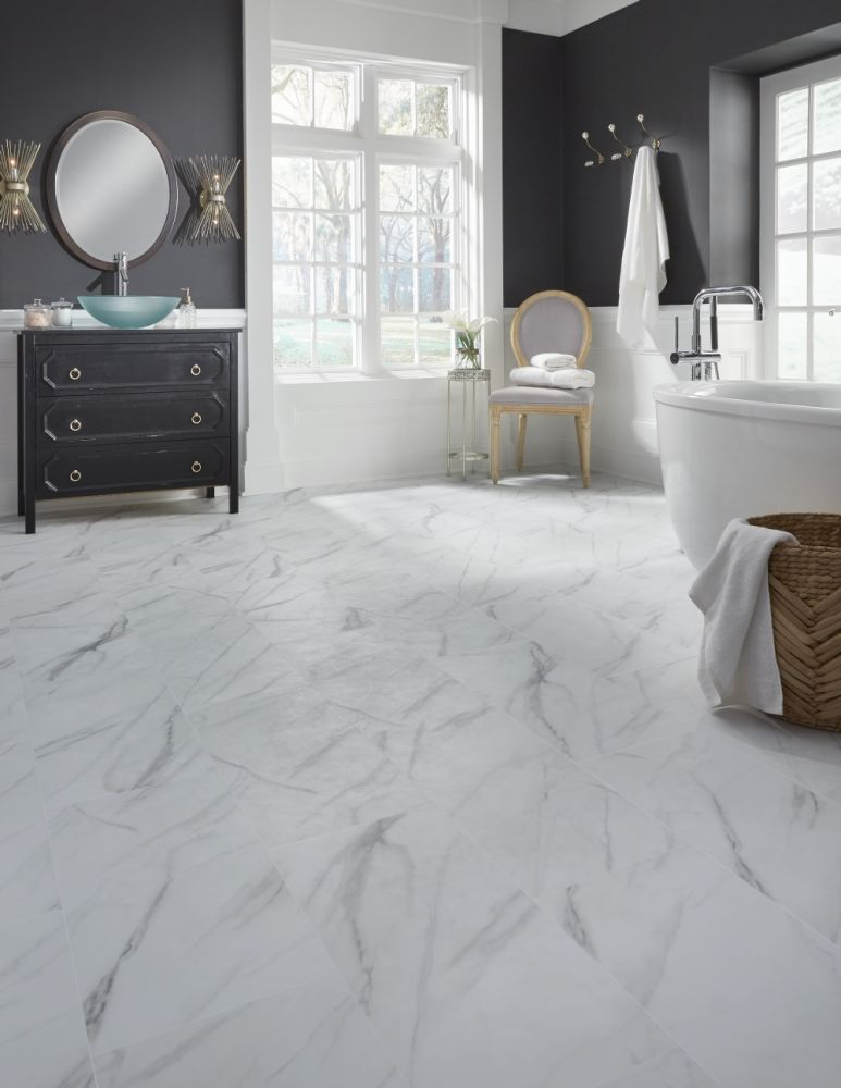 Mannington Adura®rigid Tile Legacy White withGray RGR120