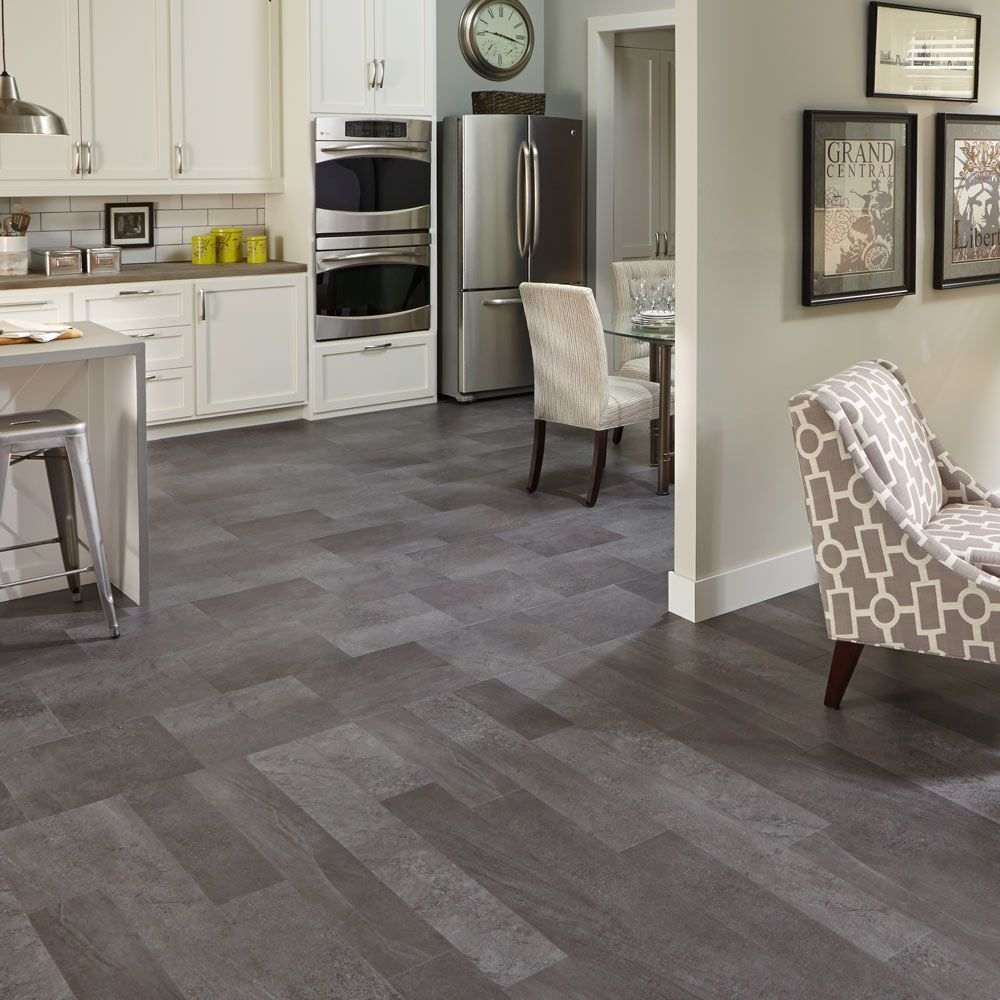 Mannington Adura® Luxury Vinyl Tile Flooring Meridian Carbon ASP405
