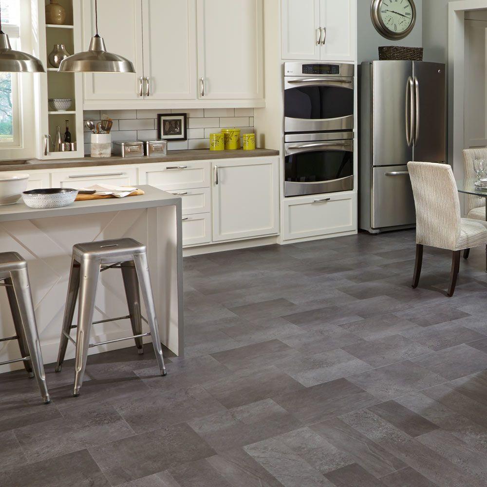 Mannington Adura® Luxury Vinyl Tile Flooring Meridian Carbon AT405