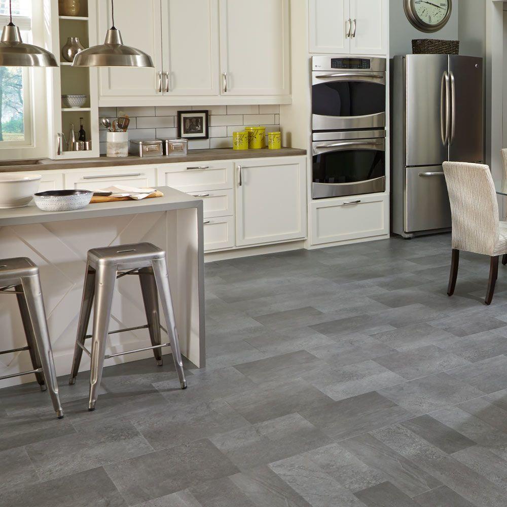 Mannington Adura® Luxury Vinyl Tile Flooring Meridian Steel AT404