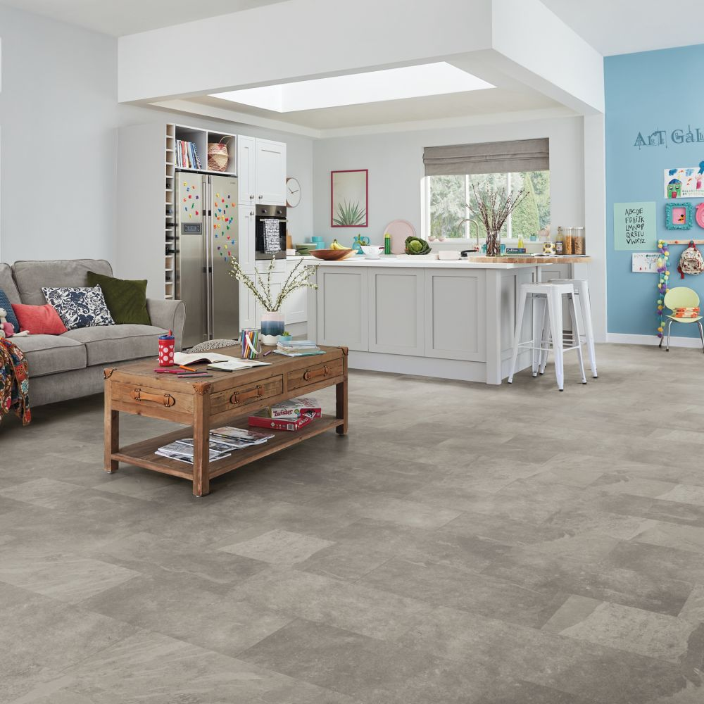 Karndean Knight Tile Rigid Core Grey Riven Slate SCB-ST16