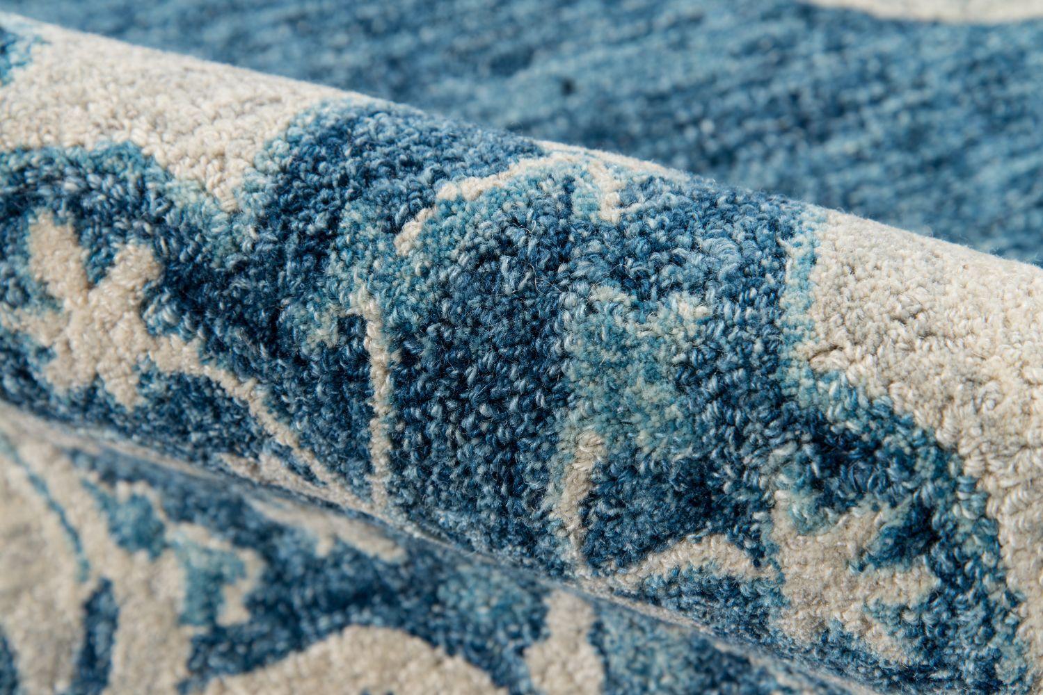 Momeni Tangier Tan36 Blue 2'3″ x 8'0″ Runner TANGITAN36BLU2380