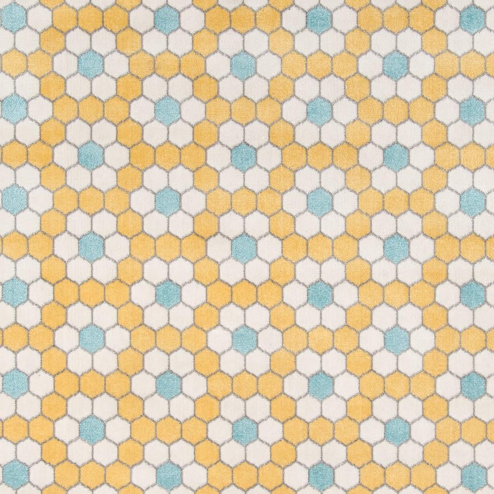 Novogratz Terrace Trc-1 Modern Hex Tile Yellow 2'3″ x 7'6″ Runner TERACTRC-1YEL2376