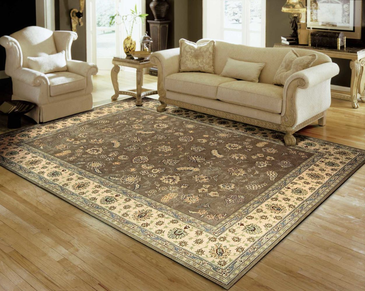 Nourison 2000 Traditional, Olive 12'0″ x 15'0″ 2003LV12X15