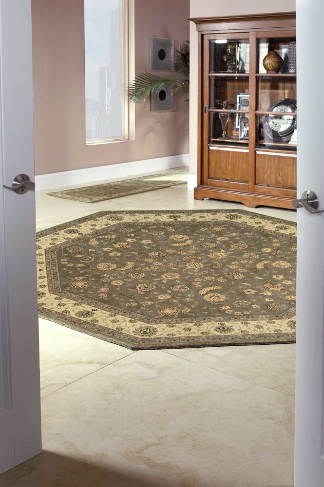 Nourison 2000 Traditional, Olive 4'0″ x 4'0″ Round 2003LVROUND
