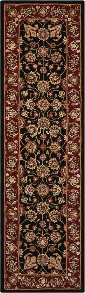 Nourison 2000 Traditional, Black 2'6″ x 12'0″ Runner 2017BLCKRUNNER