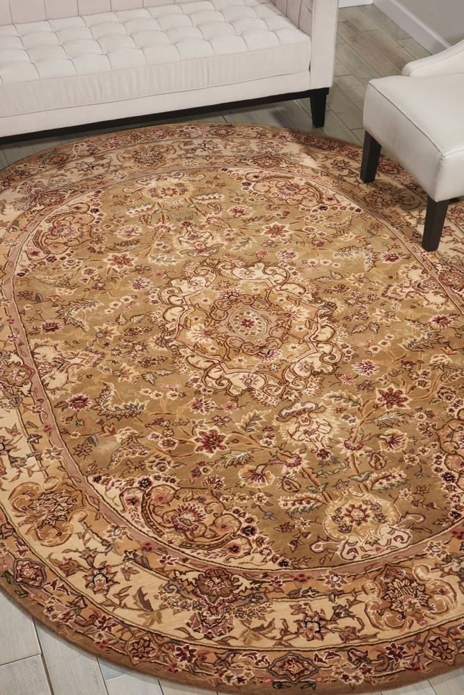 Nourison 2000 Traditional, Olive 8'0″ x 8'0″ Round 2028LVROUND